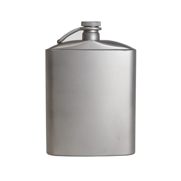 Camping Titanium Hip Flask & Outdoor Camping Liquor Flask Whiskey Wine Flagon