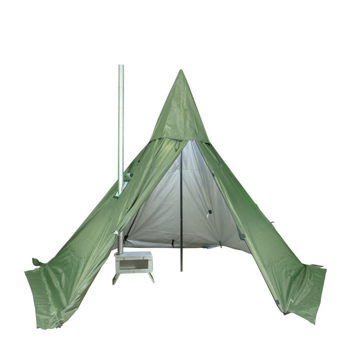 POMOLY HEX Hot Tent with Wood Stove Jack 2 Person | 2020 Version