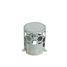 Titanium Stove pipe spark arrestor for tent wood stove