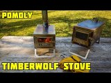 Lonewolf 902 x TIMBER Wolf Limited | Ultralight Titanium Stove | Backpacking and Hot Tent Camping (With Spark Arrestor)