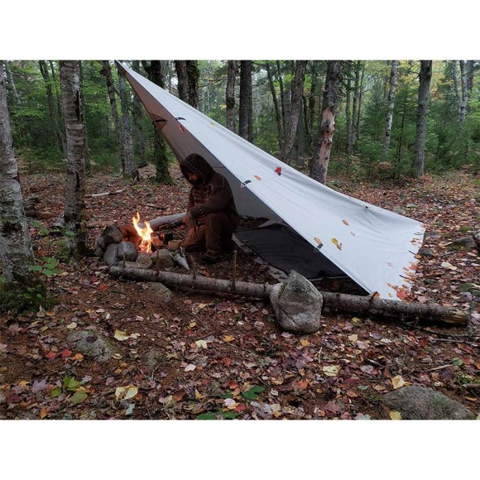 300D Oxford Wolf Den Tarp | Multifunctional Tarp Shelter | Solo Bushcraft and Camping | Lonewolf902 Signature