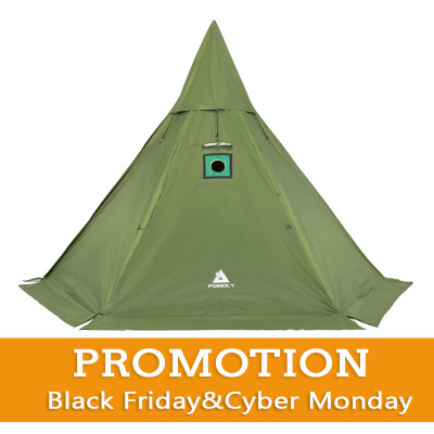 【SALE】HEX Hot Tent For 2-4 Person With Half Inner Tent