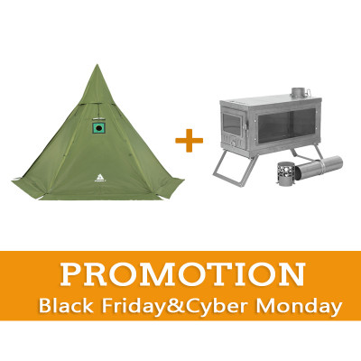 【SALE】HEX Hot Tent + TIMBER Stove