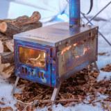 T1 WOODS NIGHT - POMOLY Titanium Wood Stove - Winter Limited Edition (9.84ft / 3m Chimney + Spark Arrestor)