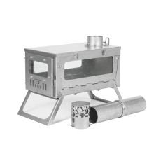 T1 mini 3 | Titanium Wood Stove for Solo Hot Tent Camping | POMOLY