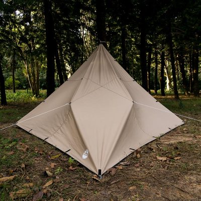 Canvas Wolf Den Tarp 10x10ft (3x3m) for Solo Bushcraft and Camping - Lonewolf 902