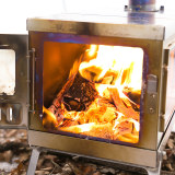 TIMBER Wood Stove (Titanium) for Hot Tent and Camping with Spark Arrestor ( 3 styles available)