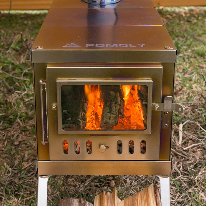 TIMBER Lite | Ultralight Titanium Tent Stove for Hot Tent and Camping | POMOLY