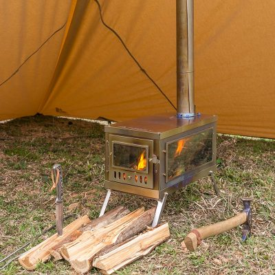 TIMBER 3   Titanium Tent Stove for Hot Tent Camping   POMOLY