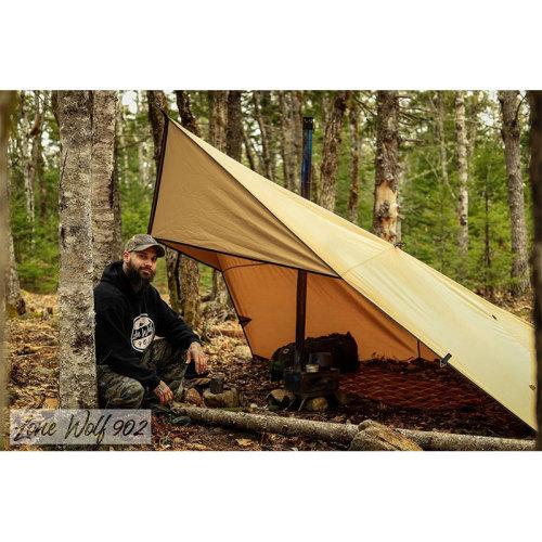 Rhombus Shelter with Stove Jack | Canvas Wolf Den Tarp 2.0 | Lonewolf902 Signature