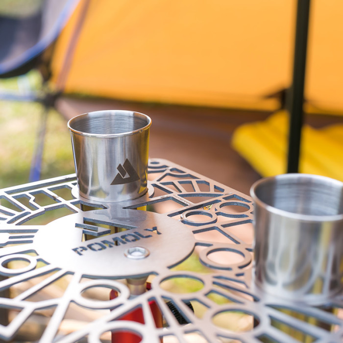 G2 Gimbal   Titanium Table for Hiking and Camping   POMOLY