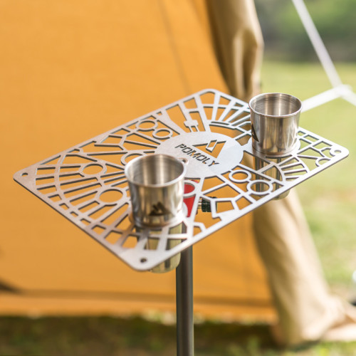 G2 Gimbal | Titanium Table for Hiking and Camping | POMOLY