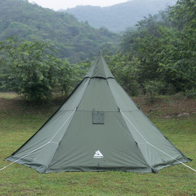 HEX Plus Camping Hot Tent with Wood Stove Jack 2-4 Person | POMOLY 2021