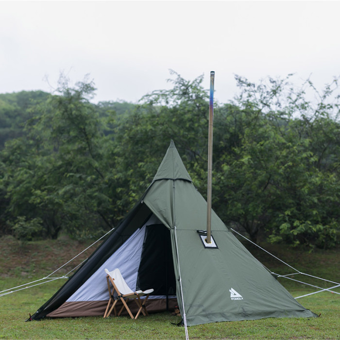 HEX Plus Camping Hot Tent with Wood Stove Jack 2-6 Person