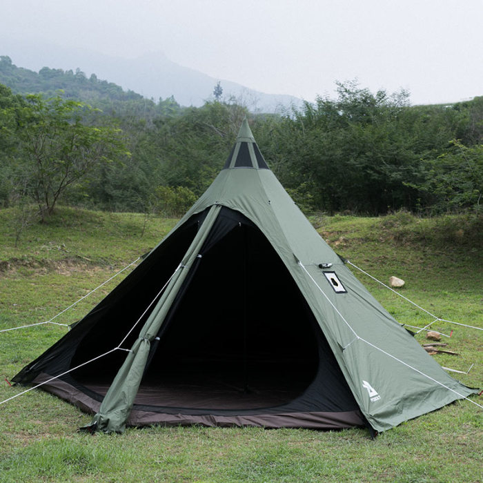 MANTA Tipi Tent With Stove Jack 2-4 Person For Hot Tent Camping