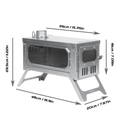 T-BRICK | Portable Titanium Wood Stove for Hot Tent Camping | POMOLY 2021 New Series