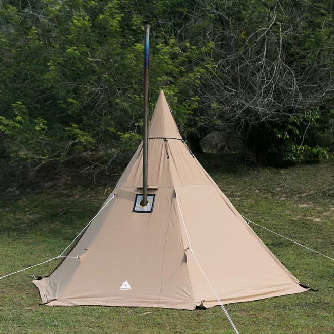 Canvas Tent with Wood Stove Jack