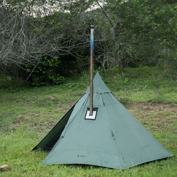 HUSSAR Ultralight Hot Tent with Wood Stove Jack For Camping 1-2 Person
