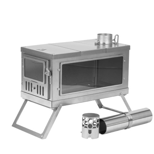 TIMBER Stove | Titanium Wood Stove for Hot Tent and Camping | POMOLY 2021 Version