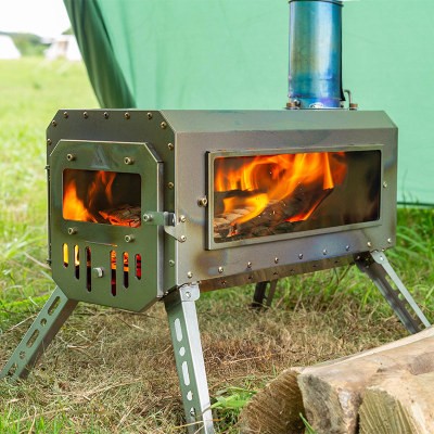 TRAVELLER Wood Stove   Ultralight Titanium Tent Stove 3.3lbs   2021 New Series   In Stock