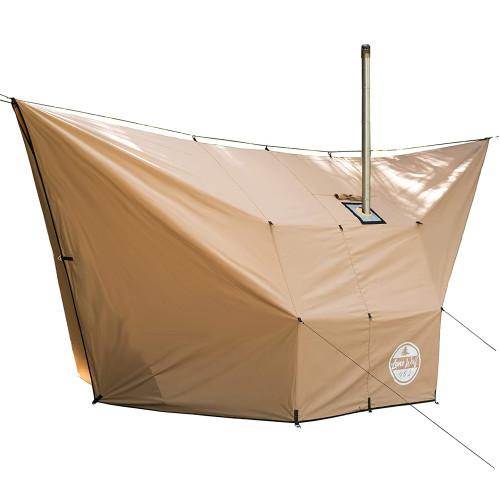 Lonewolf902 Hammock Hot Tarp | Canvas Hot Shelter for Hammock Camping | Lonewolf902 Design