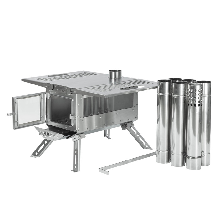 Oroqen Tent Wood Stove   Stainless Steel Stove for Hot Tent Camping   POMOLY 2021 New Arrival