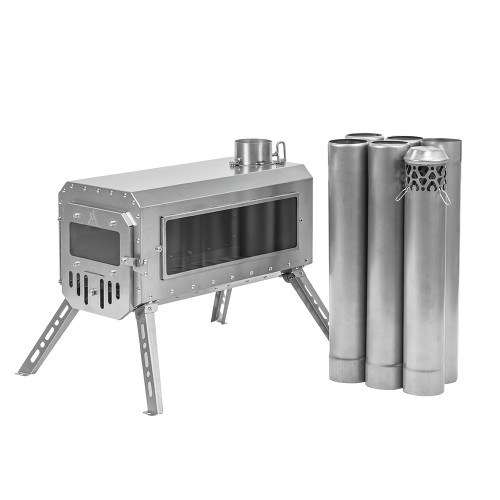 Traveller Wood Stove | Non Rolling Titanium Chimney Version | Ultralight Tent Stove | 2021 New Arrival