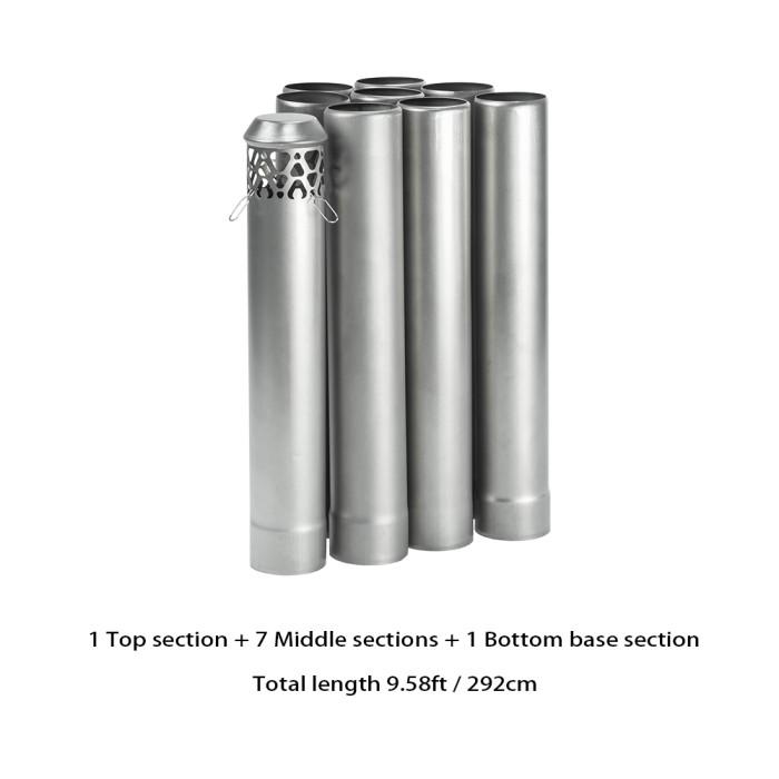 titanium stove pipe
