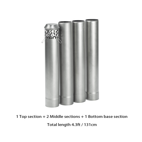 Titanium Stove Pipe Set | Titanium Non Rolling Solid Section Chimney | POMOLY New Arrival 2021