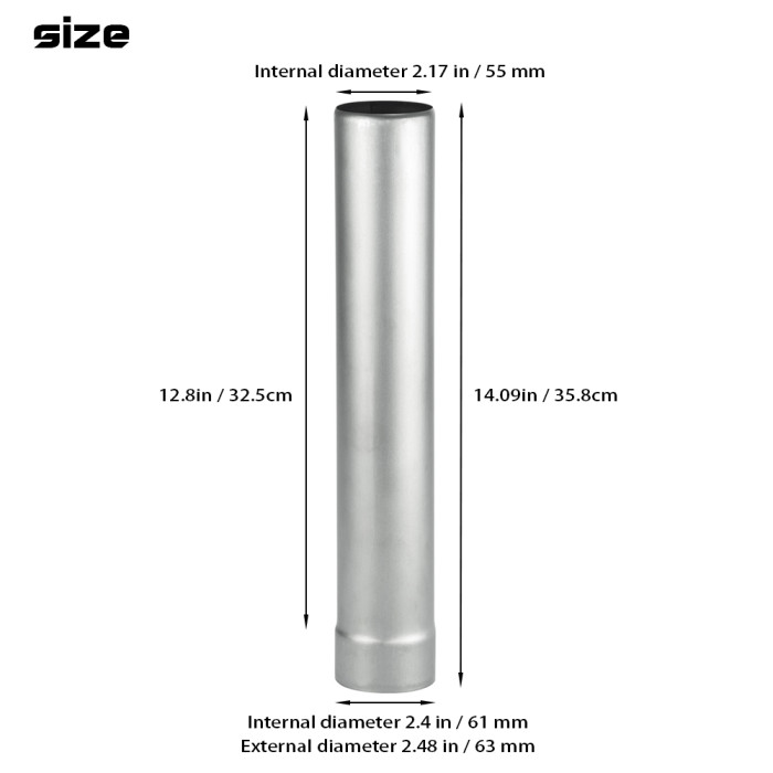 Titanium Bottom Base Section Pipe   Titanium Non Rolling Solid Section Chimney   POMOLY New Arrival 2021