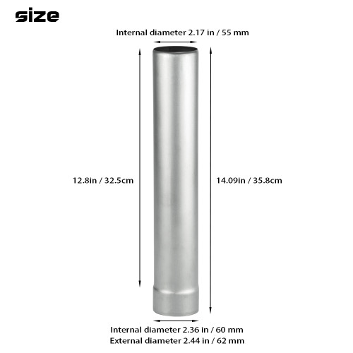 Titanium Middle Section Pipe | Titanium Non Rolling Solid Section Chimney | POMOLY New Arrival 2021