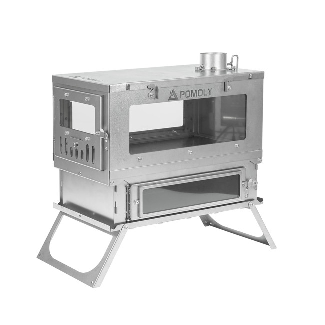 Prototype T1 TAISOCA Titanium Oven Stove | Tent Wood Stove with Oven | Production Version Coming Soon