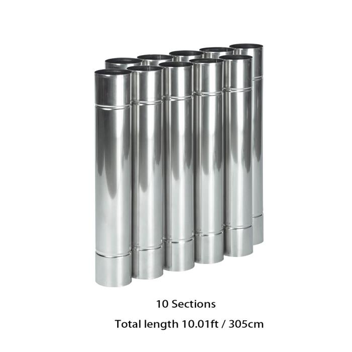 Stainless Steel Flue Chimney Diameter 2.36in / 6cm