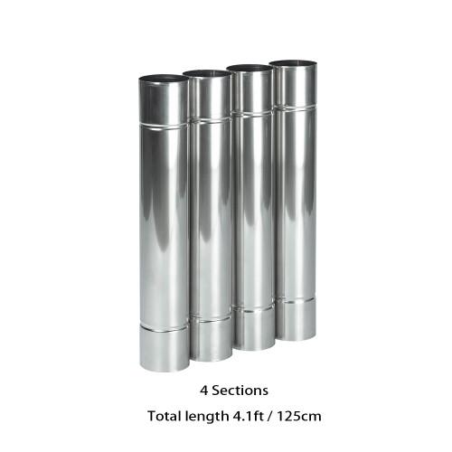 Stainless Steel Flue Chimney Extension for Oroqen Wood Stove | Diameter 2.36in / 6cm