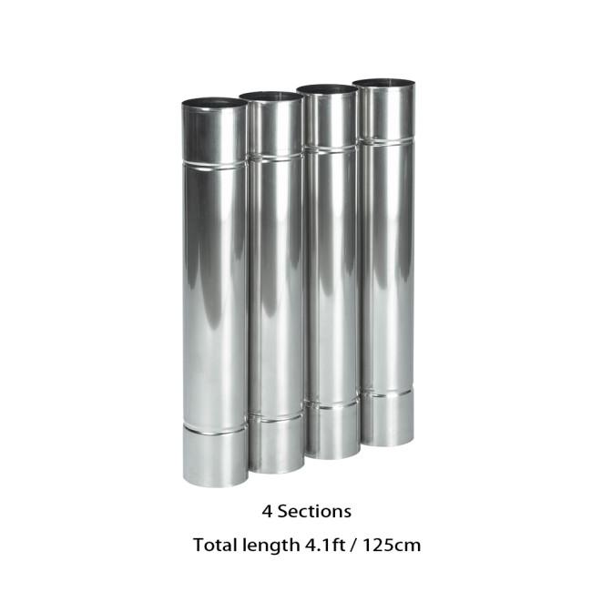 Stainless Steel Flue Chimney Extension for Oroqen Wood Stove   Diameter 2.36in / 6cm