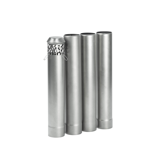 Titanium Stove Pipe Set | Detachable Assembled Stove Chimney Non Rolling Solid Section Flue | POMOLY New Arrival 2021