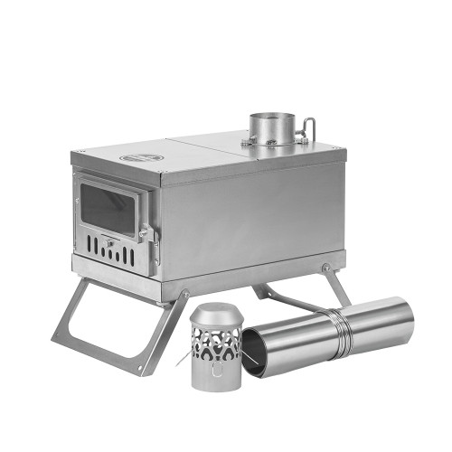TIMBER Wolf Ultralight Tent Stove Titanium for Solo Camping | Lonewolf 902 Signature | 2021 Version
