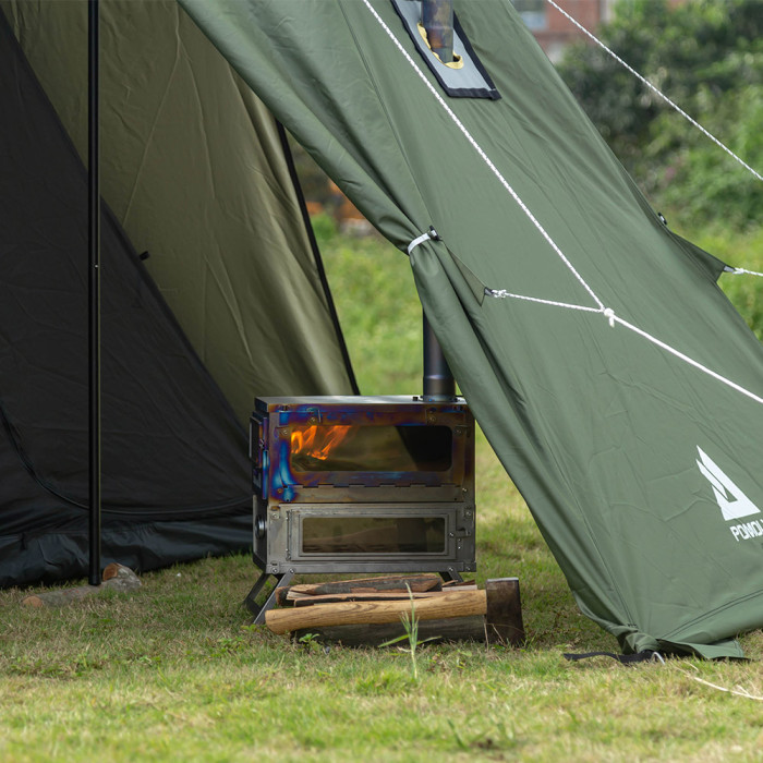 T1 TAISOCA Titanium Oven Stove   Tent Wood Stove with Oven   New Arrival 2021   Pre-Order!