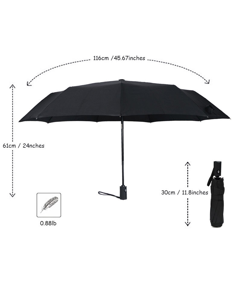 Ladies RLDSESS Travel Folding Umbrella 42 Inches 10 Ribs Men Automatic Opening and Closing,Fire Hand Illustration,Windproof Rainproof