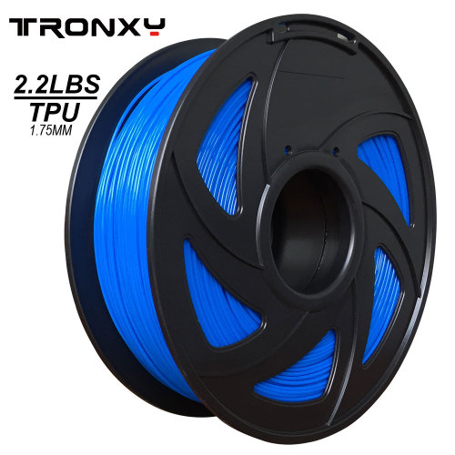 3D Flexible Blue TPU Filament 1.75 mm, 2.2 LBS (1KG)