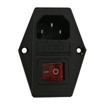 Tronxy 3 pin Power Supply Socket 250V 10A with Fuse Holder