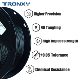 3D Flexible Black TPU Filament 1.75 mm, 2.2 LBS (1KG)