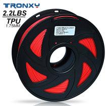 3D Flexible Red TPU Filament 1.75 mm, 2.2 LBS (1KG)