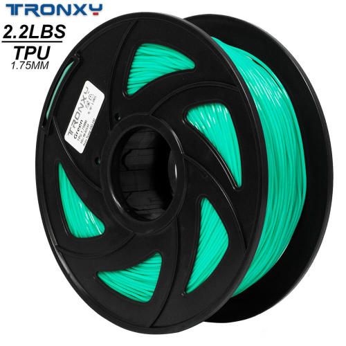 3D Flexible Green TPU Filament 1.75 mm, 2.2 LBS (1KG)