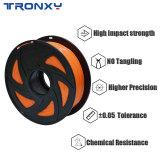 3D Flexible Orange TPU Filament 1.75 mm, 2.2 LBS (1KG)
