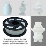 3D Flexible White TPU Filament 1.75 mm, 2.2 LBS (1KG)