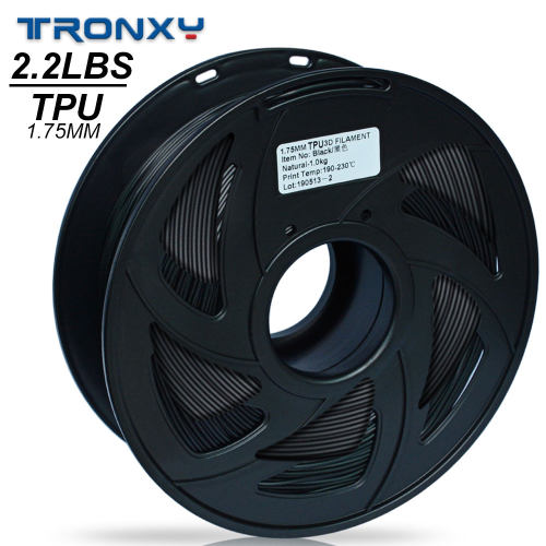 3D Flexible Black TPU Filament 1.75 mm, 2.2 LBS (1KG) Material: TPU