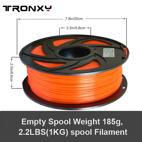 3D Transparent Orange PETG Filament 1.75 mm, 2.2 LBS (1KG)