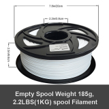3D Printer White Nylon Filament 1.75 mm, 2.2 LBS (1KG)