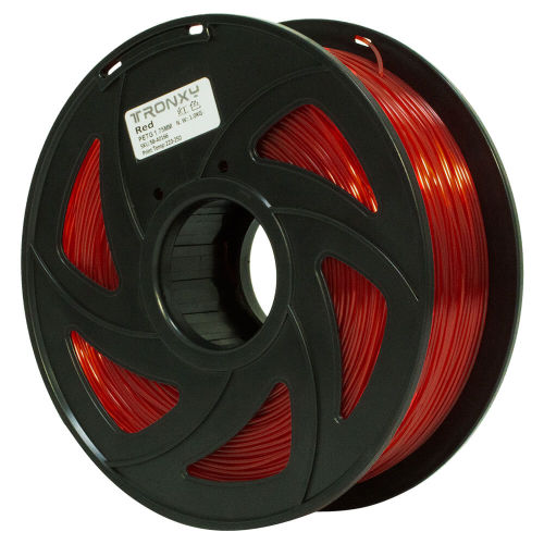 3D Transparent Red PETG Filament 1.75 mm, 2.2 LBS (1KG)